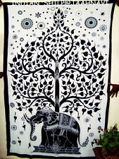 Indian Hippie Wall Hanging Elephant Mandala Tapestry Bedspread Boho Beach Throw!