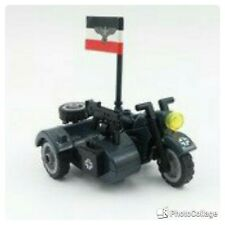 Lego COMPATIBILE : MiniFigures WW2 MILITARY (  MOTO SIDECAR )