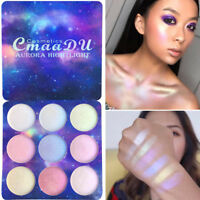 9 Color Shimmer Glitter Eyeshadow Powder Palette Highlighter Face Makeup Beauty