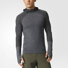ADIDAS - NEW - Men's Climacool Running Prime Knit Long Sleeve Hoodie Top - XL