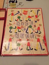 VINTAGE ORIGINAL SCHOWANEK NICK NOCK WOODEN HAMMERING GAME CIRCA 1950's German