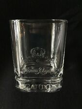Crown Royal Embossed 2000  Square  Low Ball Tumbler Bar Glass