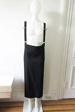 Y's Yohji Yamamoto Black Wool Oversized Suspender Maxi Skirt EUC M