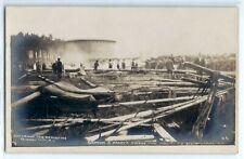 1910 Barnum & Bailey's Circus tent fire, Schenectady N.Y., photo postcard RPPC 2