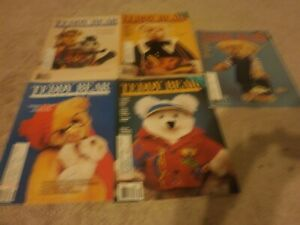 5 VINTAGE Teddy Bear Review Magazine  125 PAGES 1992 jan/oct