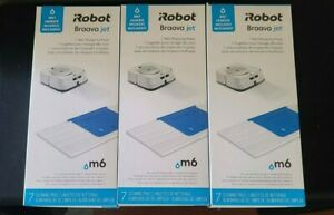 """iROBOT BRAAVA JET M SERIES m6 PADS 3 BOXES WET MOPPING & 1 BOX WASHABLE """"NEW"""""""