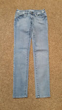 WOMENS JUNIORS sz 0 BULLHEAD SUPER SKINNY JEANS blue denim STRETCH