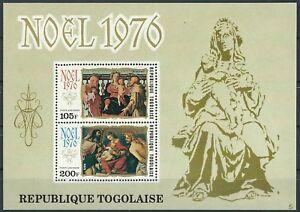 Togo - Weihnachten Block 108 postfrisch 1976 Mi. 1198-1199