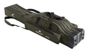 MIKADO Fishunter Rutentasche mit 3 Fächern von 120cm - 160cm Rutenfutteral