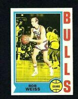NMT 1974 Topps Basketball #33 Bob Weiss.