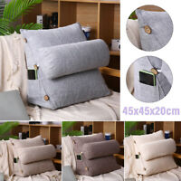45cm 18'' Wedge Back Pillow Rest Sleep Neck Home Sofa Bed Lumbar Cushion Support