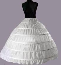 NEW 6 Layer Bridal Wedding Skirt Dress Prom Petticoat Underskirt Crinoline S - L