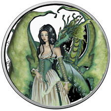 1 OZ SILVER COIN AMY BROWN FAIRY COLLECTION DRAGON SECRETS COLORIZED 6 IN SERIES