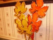 "Glitterville-26"" Yellow Maple Leaf Stem-New"