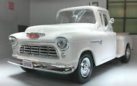 G LGB 1:24 Scale 1955 Chevy Chevrolet Stepside Pickup Diecast  Model 73236 white