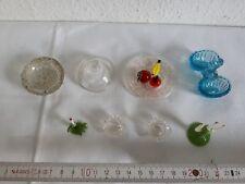 Glas Geschirr Lauschaer Glas Schale Leuchter Teller Konvolut alt Puppenstube