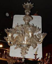 1900/1920 Lustre Cristal Murano 6 Branches
