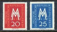 31268) DDR 1957 MNH Leipzig Fair 2v. Scott #365/66
