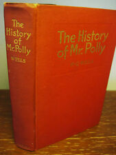 1st Edition thus THE HISTORY OF MR POLLY  H.G. Wells RARE Antique CLASSIC