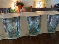 New San Miguel 6 Drinking Wine, Tumblers,Rocks Glasses 100% Recycled Glass 450