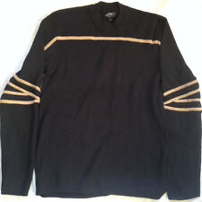 MEN'S MEXX LONG SLEEVE NAVY BLUE PULLOVER T-SHIRT SZ LARGE
