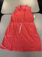 T BY TALBOTS PINK CORAL TERRY DRAWSTRING PETITE DRESS NWT NEW MSRP 80 Size XLP