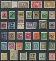 Lot Stamp Germany Inflation Era Hoard Dealer Stock Selection Collection MNH