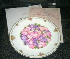 Royal Albert Queen Mothers Favourite Flowers Sweet Peas Bone China Plate