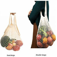 Mesh Cotton Net Reusable Grocery Bag String Shopping Bag Fruit Storage BagsTotes