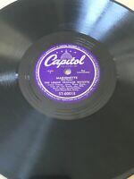 Lennie Tristano - Sax Of A Kind/Marionette * Capitol Jazz 78rpm Lee Konitz