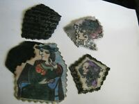 """Vintage '80s Arts Festival Hand Crafted Rubber Brooch, Choice of One by """"NOREEN"""""""