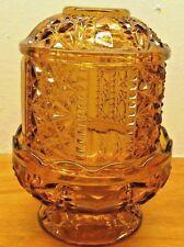 vintage fenton fairy light amber color