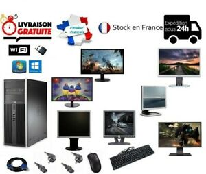 ORDINATEUR PC FIXE COMPLET BUREAU HP ELITE 7900 CMT WINDOWS 7/10 4GO/8GO