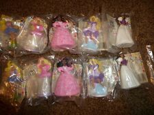 16-Vintage McDonalds Happy Meal Barbie Doll 1990 Figurine 2-Complete Set Lot NIP
