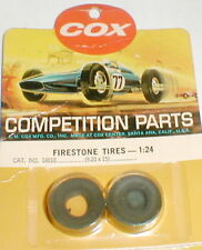 1 Pair Cox Chaparral Firestone Front Slot Car Tires 9.20 X 15 NOS 1/24 Vintage