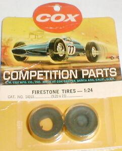 1 Pair Cox Chaparral Firestone Front Slot Car Tires 9.20 X 15 NOS 1/24 Vintage