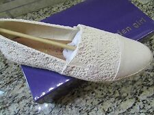 NEW MADDEN GIRL PORTIA ESPADRILLE SHOES WOMENS 10 CREAM NATURAL FREE SHIP!