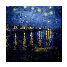 Van Gogh Starry Night Over The Rhone Tile Coaster Ceramic Free Shipping