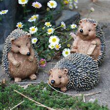 Set of 3 Hedgehog Garden Animal Ornaments Outdoor Statues
