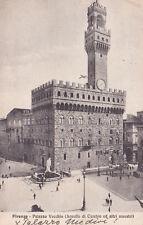 AK Firenze Florenz gel. 1924 Palazzo Vecchio heute: Rathaus