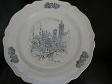 1976 Caroline Williams . Cincinnati Scene Collector Plate The Spires of Cincinn