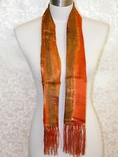 2-Ply Men New 100% Silk Oblong Scarf Gold Sunset