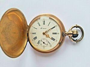 Pateck Geneve Taschenuhr Gold K14 - Montre de poche - Remontoir - pocket watch