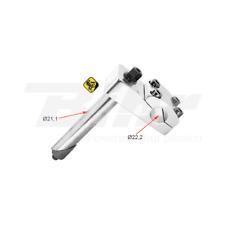 266 Attacco manubrio ZOOM BMX in alluminio color argento centro manubrio Ø22,2mm