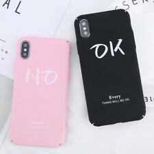 Fundas OK y No Positivo Negativo Iphone X, 5/5S, 6/6S, 6+/6S+ ,7/7+ ,8 /8+