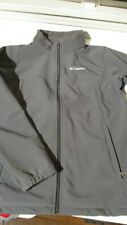 EUC COLUMBIA YOUTH ZIP FRONT SOFTSHELL JACKET GRAY XL X-LARGE