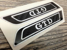 Golf 5 V 6 vi GTD de altura asiento emblema carbon 3d lámina pegatinas