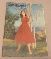 PIER ANGELI PORT AFRIQUE FRONT COVER ADD ON BACK COVER VTG Danish Magazine 1956