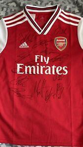 Arsenal Hand Signed Football Shirt 20/21 Squad Inc: Pepe Aubameyang Smith-Rowe