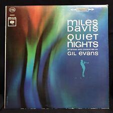 MILES DAVIS ~QUIET NIGHTS~RARE ORIG '63 COLUMBIA RED & BLACK 360 STEREO LP